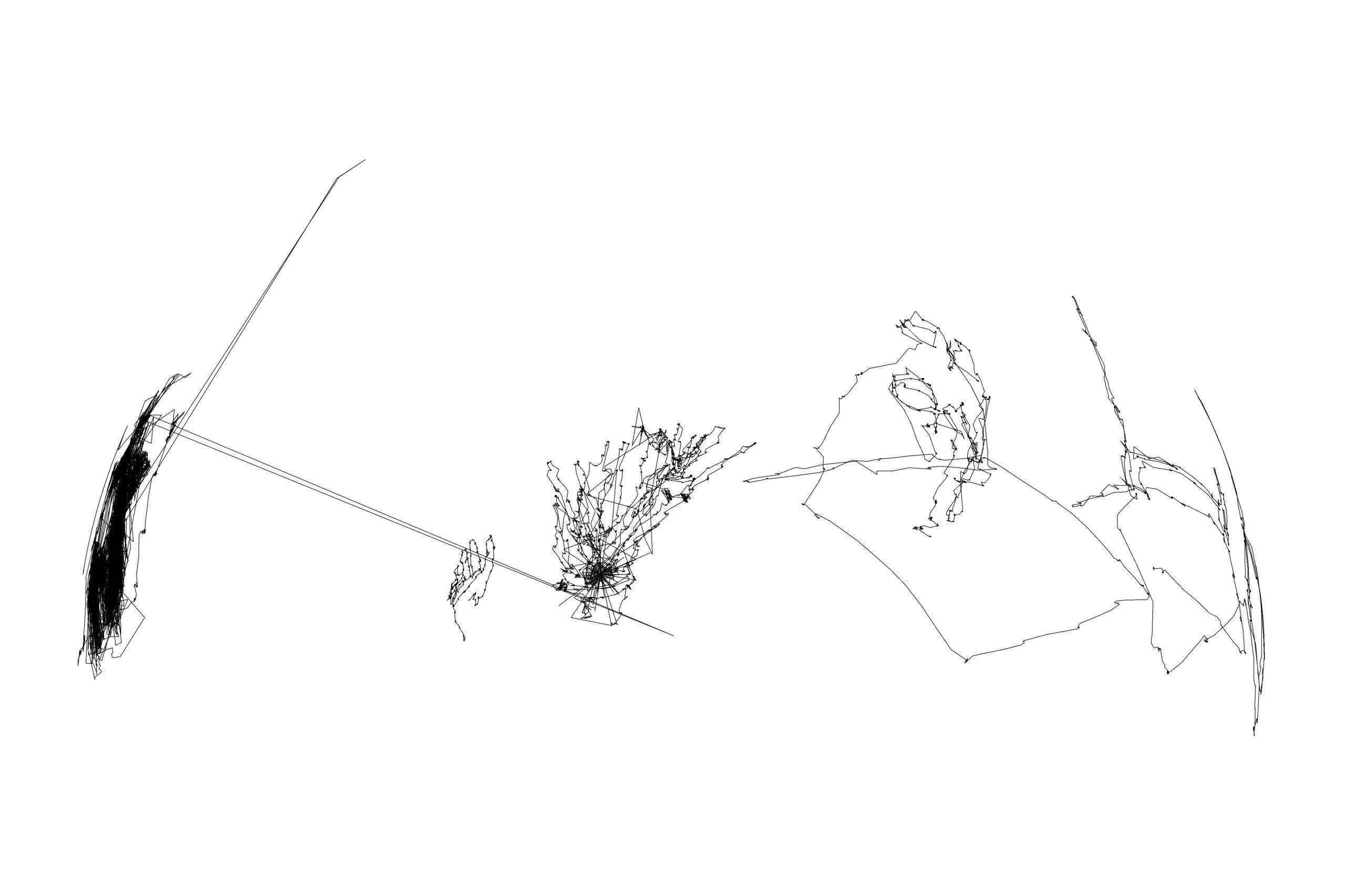 Eye drawing my bedroom. Matthew Attard, contemporary drawing, digital drawing, eye-drawing, eye-tracker
